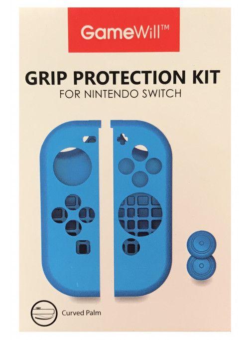 Силиконовые чехлы Grip Protection Kit для 2-х контроллеров Joy-Con (синий) (Nintendo Switch)