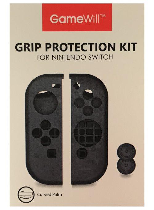 Силиконовые чехлы Grip Protection Kit для 2-х контроллеров Joy-Con (черный) (Nintendo Switch)