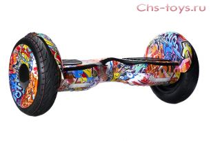 Гироскутер Smart Balance SUV (Premium) PRO 10,5 Граффити розовый Самобаланс + Музыка + Приложение