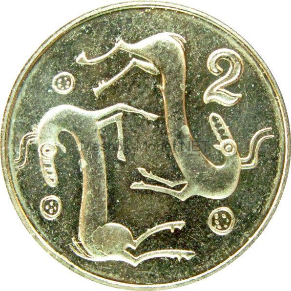 Кипр 2 цента 1992 г.