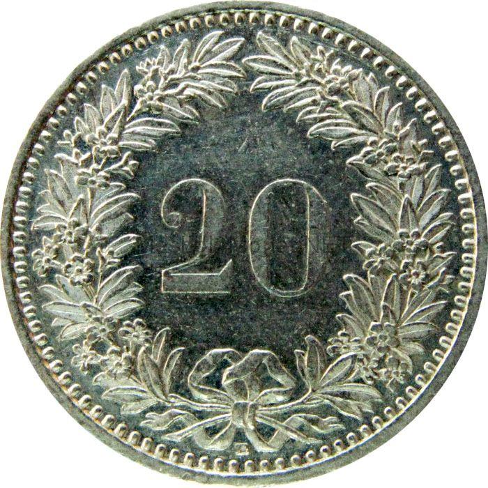 Швейцария 20 рапп 1989 г.