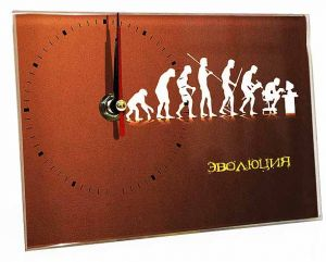 Часы стеклянные Эволюция