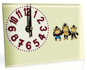 Часы стеклянные Обезьянки