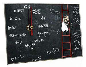 Часы стеклянные Математика