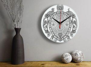 Часы раскраска Черепаха