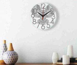 Часы раскраска Сова