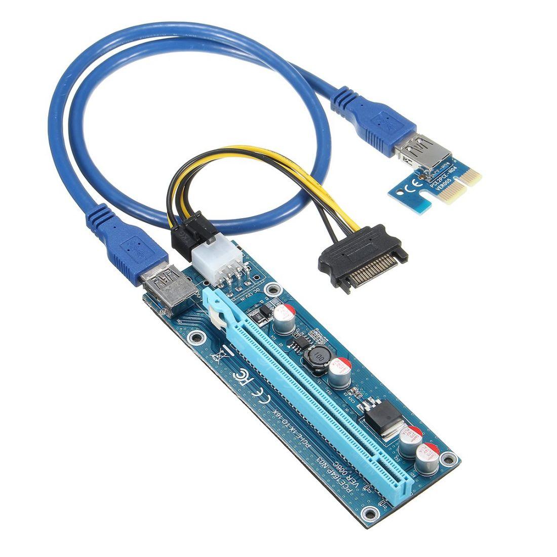 Райзер ver.006C 12v 6pin PCI-E PCI Express Riser USB 3.0