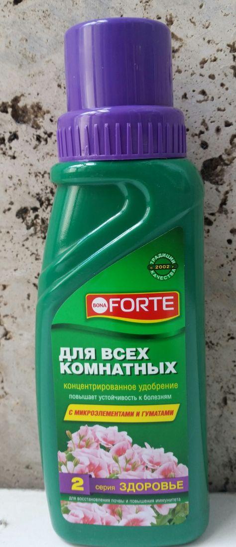 """Удобрение """"Bona Forte Здоровье"""" для всех комнатных растений 285мл"""