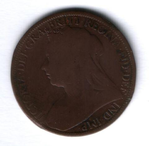 1 пенни 1896 г. Великобритания