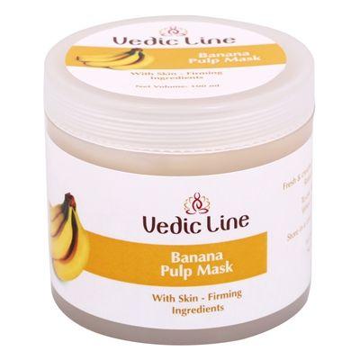 Маска для лица Банановая | глиняная для сухой и обезвоженной кожи | 100 мл | Vedic Line