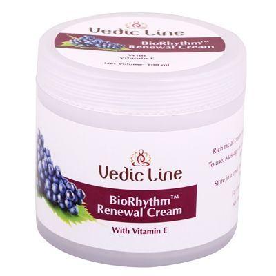 Крем для лица БиоРитм 40+ восстанавливающий | с экстрактом красного винограда | 100 мл | Vedic Line