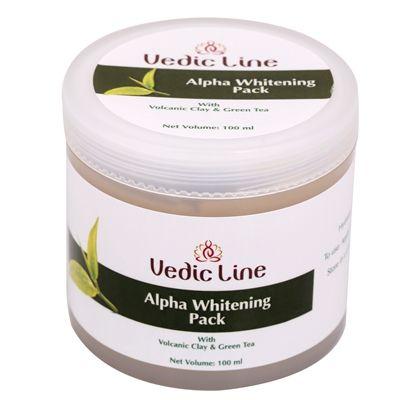 Маска для лица Альфа отбеливающая | глиняная с экстрактом чайного дерева | 100 мл | Vedic Line