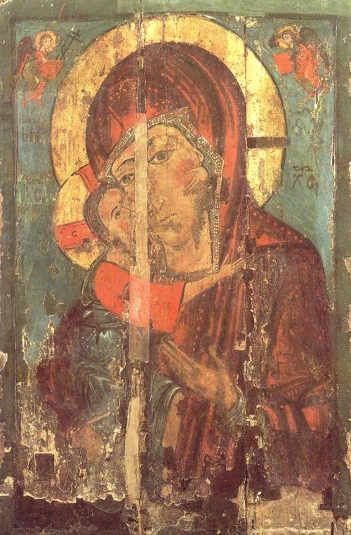 Страстная икона Божией Матери (копия 13 века)