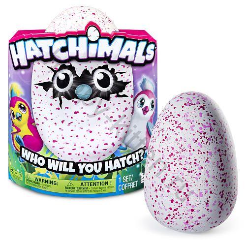 Яйцо Hatchimals Пингвин розовый/малиновый