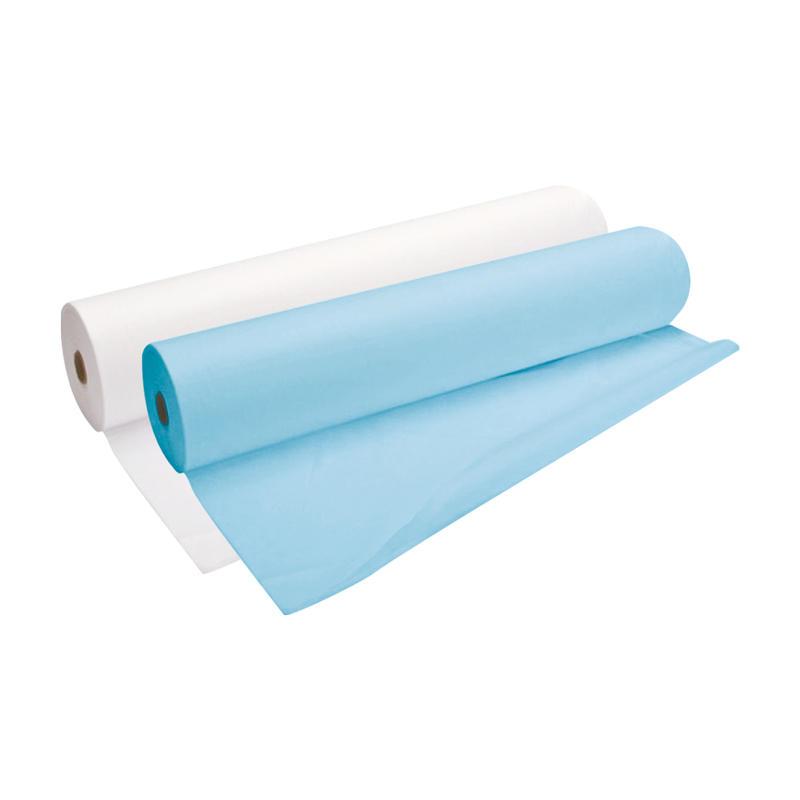 Простыня одноразовая White line 70*200 SS 17 голубой №100 рол