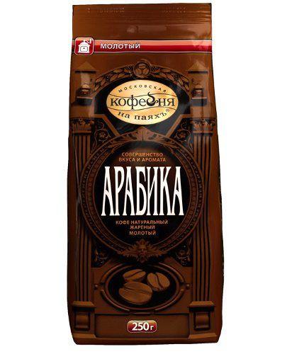 Кофе Арабика молотый пакет 250г