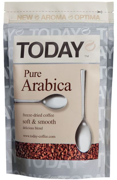 Кофе Today Pure Arabica пакет 75г