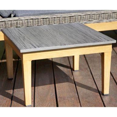 Кофейный столик БИАРРИЦ к шезлонгу лежаку из ротанга БИАРРИЦ
