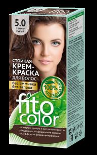 """""""fk"""" Стойкая крем-краска для волос серии """"Fitocolor"""" тон темно-русый 115 мл"""