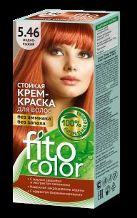 """""""fk"""" Стойкая крем-краска для волос серии """"Fitocolor"""" тон медно-рыжий 115 мл"""