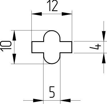 Соединительный элемент узкий (крестик)