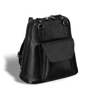 Женская сумка-рюкзак трапециевидной формы BRIALDI Beatrice (Биатрис) relief black