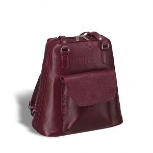 Женская сумка-рюкзак трапециевидной формы BRIALDI Beatrice (Биатрис) relief cherry
