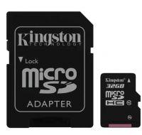 Карта памяти Kingstone microSD Class 10 32 GB+SD адаптер