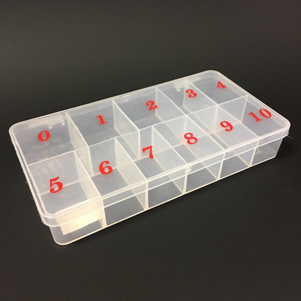 Контейнер для типс 500шт матовый пластик (нумерация)