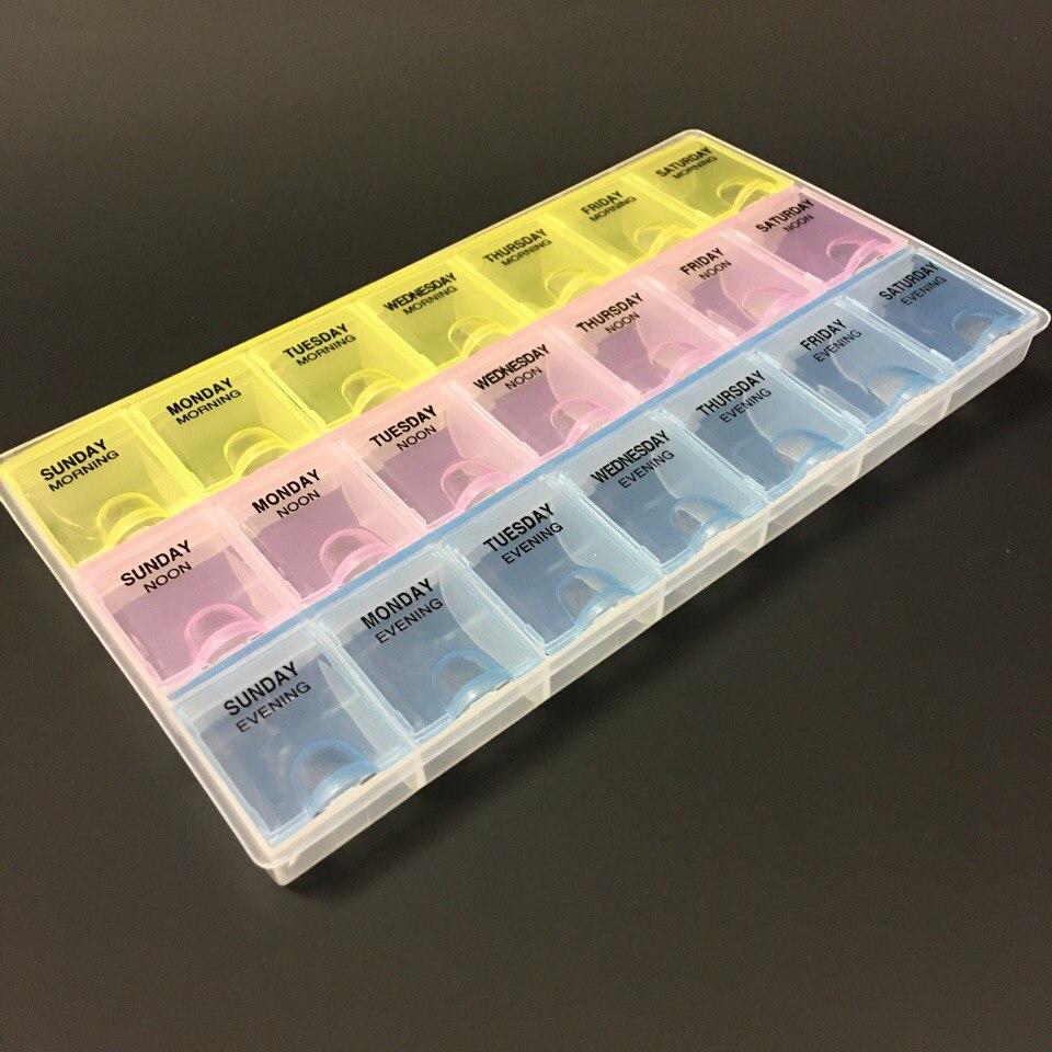 контейнер для дизайна пластиковый 21 секция(Дни недели)