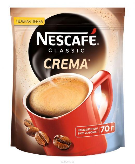 Кофе Нескафе Классик Крема пакет 70г