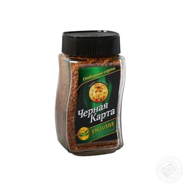 Кофе Черная Карта Эксклюзив Бразилия раств. ст/б 95г