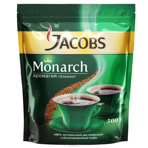 Кофе Якобс Монарх пакет 500г