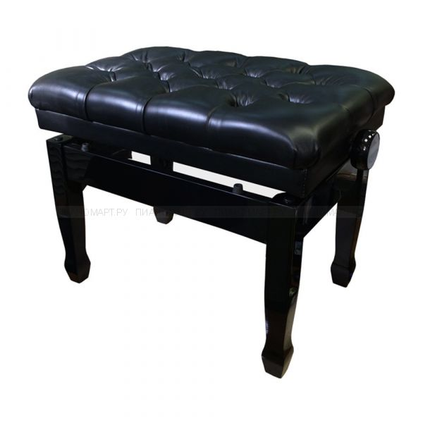 Банкетка для пианино или рояля KONIG KPB-501RL/BK деревянная