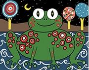 Картина по номерам Лягушка