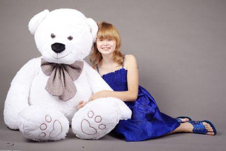 Медведь белый плюшевый 150см