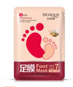Увлажняющая смягчающая маска для ног «BIOAQUA»  .(8955)