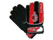 Перчатки вратарские - Милан черно-красные