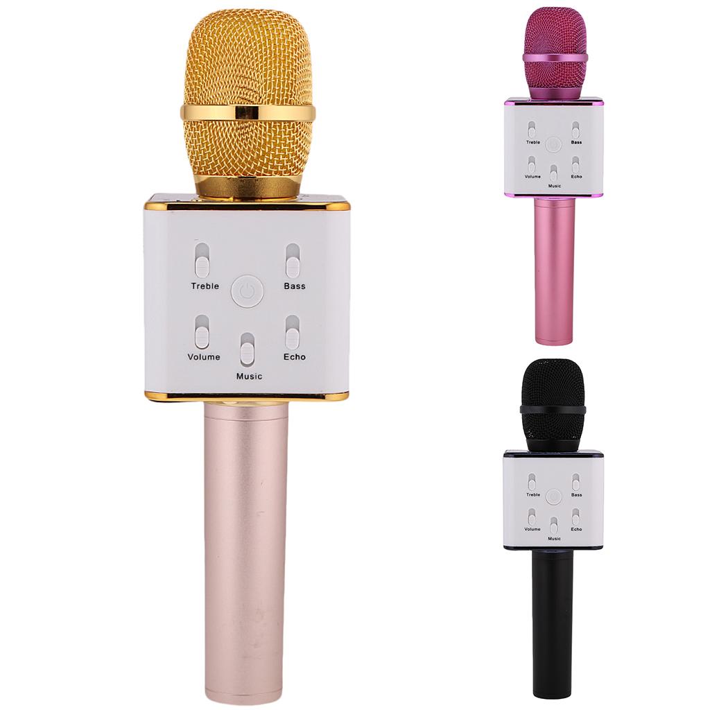 Беспроводной микрофон-караоке с встроенным динамиком Q7 Pro с поддержкой USB-накопителя