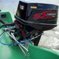 Zongshen T 15 BMS двухтактный подвесной лодочный мотор с двумя цилиндрами, мощность 15 л. с. texnomoto.ru