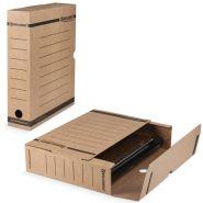 Накопитель 75мм BRAUBERG Лоток-коробка бурый до 700л/50 126509