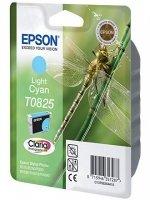Картридж оригинальный светло-голубой (light cyan) Epson T0825 / C13T08254A, объем 7,5 мл.