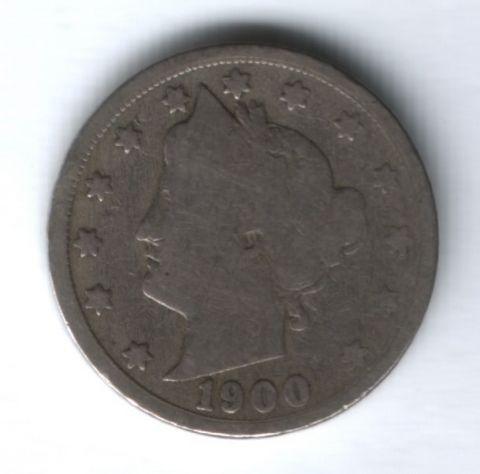 5 центов 1900 г. США