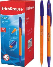 Ручка шар синяя ERICH KRAUSE R-301 0.7мм корпус оранж/50 22187
