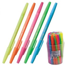 Ручка шар синяя СТАММ Оптима 0.7мм корпус неон/250 РО10
