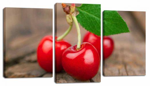 Модульная картина Три вишни