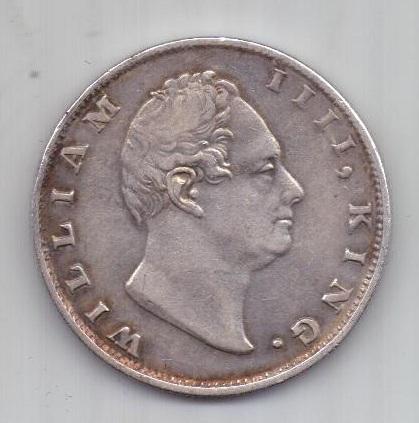 1 рупия 1835 г. AUNC Индия (Великобритания)