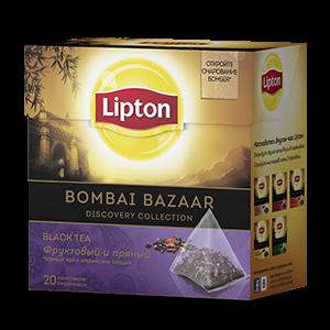 Чай Липтон черный Bombay Bazaar (пирамидки) 2г 20пак.