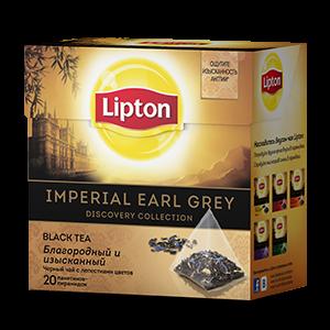 Чай Липтон черный Империал Эрл Грей (пирамидки) 1,8г 20пак.