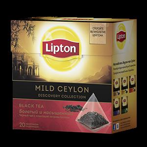 Чай Липтон черный Майлд Цейлон (пирамидки) 1,8г 20пак.